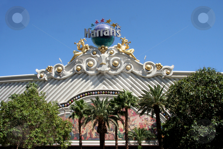 Harrahs Hotel and Casino stock photo, An exterior shot of Harrahs hotel and casino in Las Vegas by Kevin Tietz