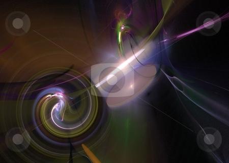 Fractal 38 Multi Color stock photo, Beautiful flows of different color build this fractal by Henrik Lehnerer