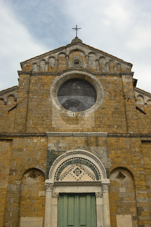 Der Dom Dom Santa Maria Assunta in Volterra, Toskana, Italien - The basilica Dom Santa Maria Assunta stock photo, Aus dem fr?hen 12. Jahrhundert - Founded at the beginning of the 12th century by Wolfgang Heidasch