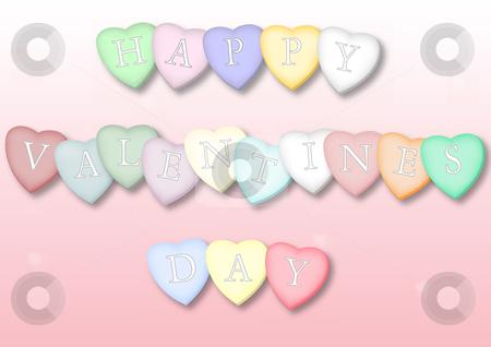Happy Valentines Day Vector stock vector clipart, Happy Valentines Day Vector by John Teeter