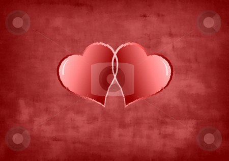 Red Heart Valentine Background stock photo, Red Heart Valentine Background Illustration by John Teeter