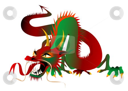 Asian Dragon stock photo, Asian Dragon (Vector fully editable and resizable) by Edward White