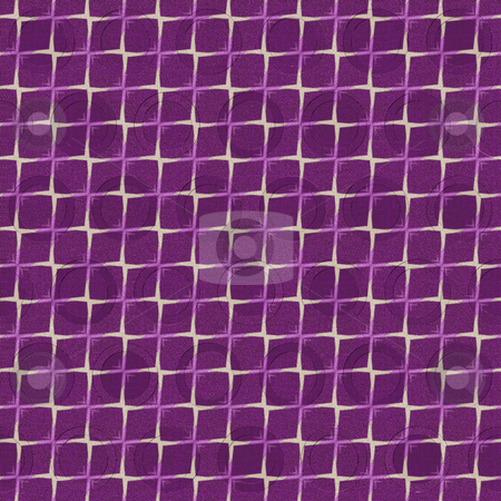 Purple pattern stock photo, Seamless texture of purple cloth on beige canvas by Wino Evertz