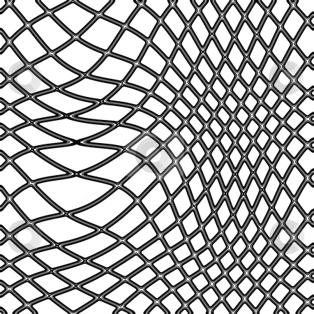 Fishing net stock photo, Transparent black fishing net on white background by Wino Evertz