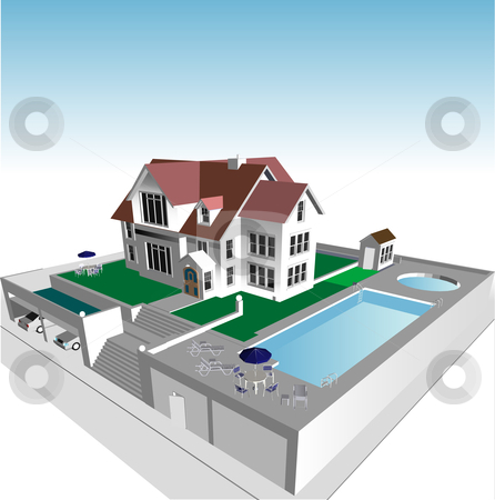 Dream House Online on Dream Home Stock Vector Clipart  Dream Home By Edward White