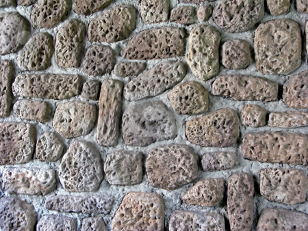 Brick Wall stock photo, A wall of bricks that creates a pattern. by Lucy Clark