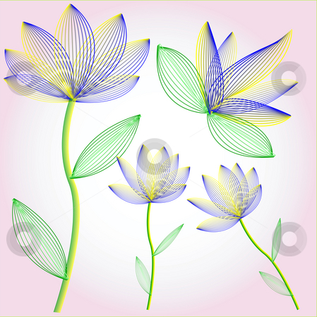 Flower stock photo, Abstract flowers by Sybille Yates
