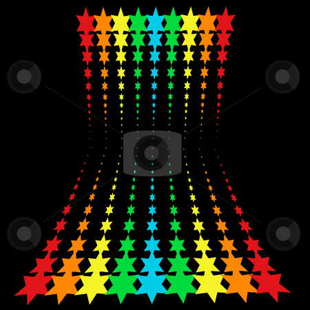 Rainbow stars stock photo, rainbow stars pattern by Sybille Yates