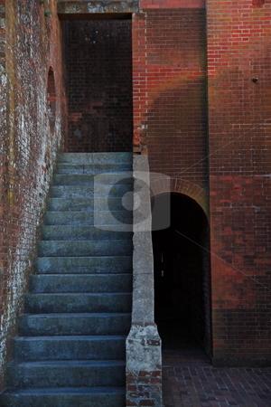 Fort Pulaski Georgia stock photo, Fort pulaski  stairs and passageways architectual design by Jack Schiffer