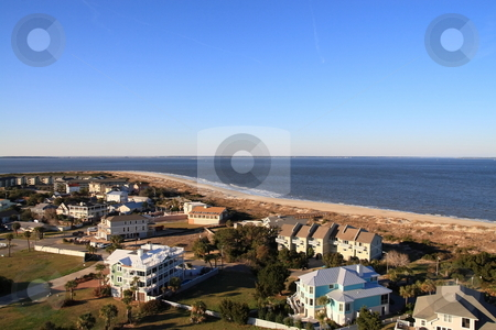 Tybee Island Georgia stock photo, View of Tybee Island from top of light house by Jack Schiffer
