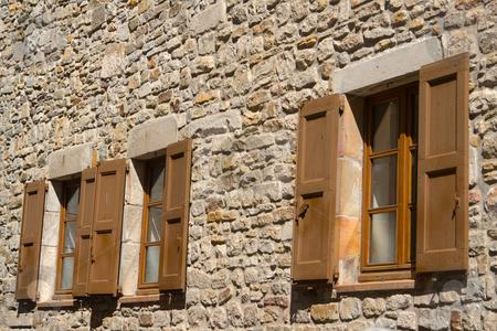 Fassade mit Fenstern stock photo, Fassade mit Fenstern by Wolfgang Heidasch