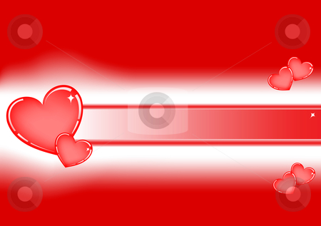 Valentine Love Background Illustration stock vector clipart, Valentine love background illustration with hearts - red by John Teeter
