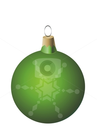 Green Christmas ball ornament stock photo, Green Christmas ball ornament by Mihai Zaharia