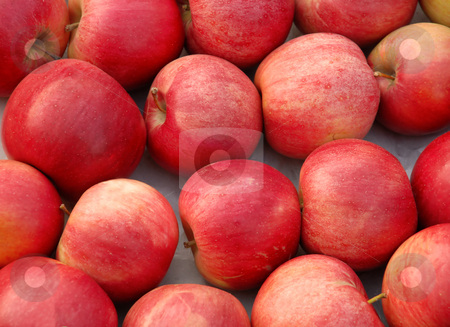 Red apples background stock photo, Ripe juicy fresh red apples abstract background by Julija Sapic