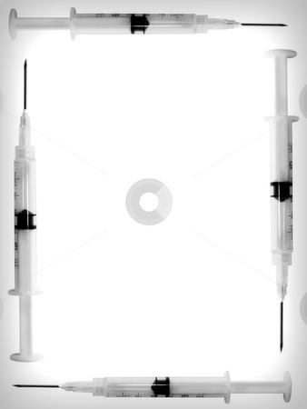 Needle Background stock photo, Needles on white background by John Teeter