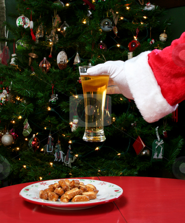 Beer for Santa stock photo, Shot of