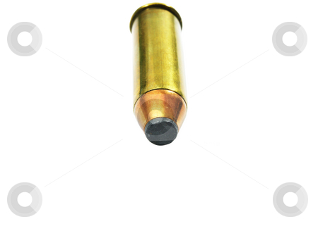 Bullet Close up stock photo, Bullet close up on a white background by John Teeter