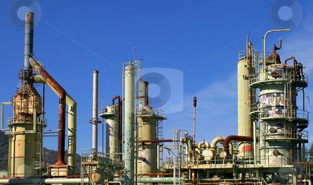 Oil Refinery stock photo, An abandoned oil refinery in Ventura California. by Henrik Lehnerer