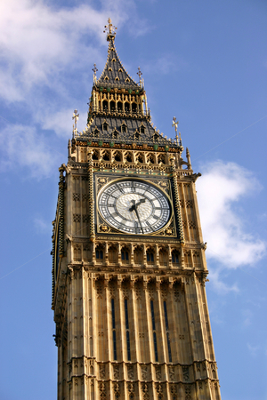 Close view of the clock face of Big Ben. stock photo, Close view of the clock face of Big Ben, the clock tower of the Palace of Westminster. by Stephen Rees