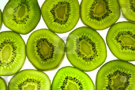 Colorful kiwi fruit slices. stock photo, Colorful kiwi fruit slices. by Stephen Rees