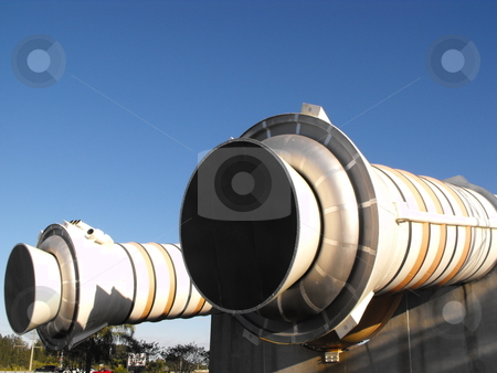 Space Shuttle Launch Vehicle stock photo, Close up views of the Space Shuttle launch vehicle displayed at the Kennedy Space Center Visitor Complex which is located in a wildlife refuge near Orsino, Florida located on the Atlantic coast. by Dennis Thomsen