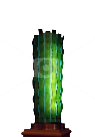 Modern Light stock photo, A modern light with green and blue glass d?cor by Kevin Tietz