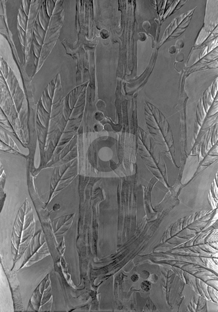 Glass Texture stock photo, Glass bamboo and leaves window that make an artistic background by Kevin Tietz