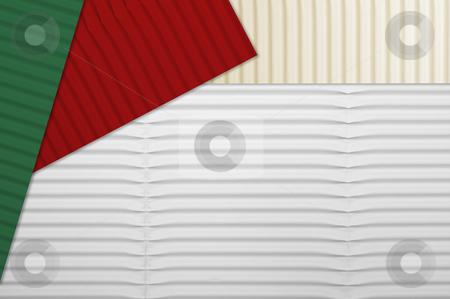 Holiday Corrugated Cardboard stock photo, Holiday Corrugated Cardboard Macro Background by Andy Dean