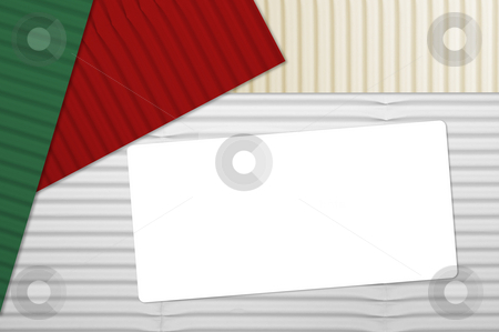 Holiday Corrugated Cardboard stock photo, Holiday Corrugated Cardboard Macro Background and room for your own text. by Andy Dean