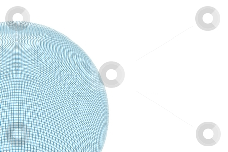 Wire Globe stock photo, Blue wire globe on white background with back. by Henrik Lehnerer