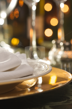 Elegant Dinner Setting stock photo, Elegant Dinner Setting Abstract Macro Background by Andy Dean