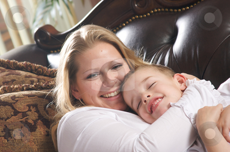 Young Mother and Son stock photo, Young Mother and Son Enjoying a Tender Moment by Andy Dean