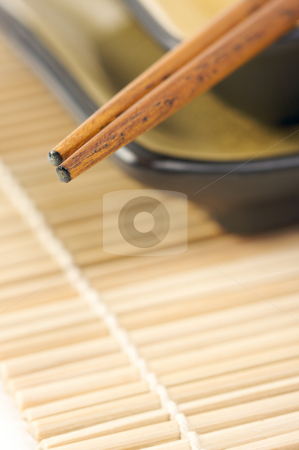 Abstract Chopsticks and Bowls stock photo, Abstract Chopsticks and Bowls with Narrow Depth of Field. by Andy Dean