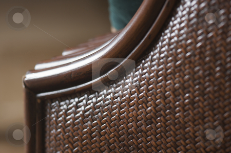 Abstract Rattan Weave Background stock photo, Abstract Rattan Weave Background Macro Image by Andy Dean