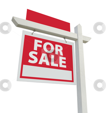 For Sale Real Estate Sign stock photo, For Sale Real Estate Sign with Extra Room for Your Copy Isolated on a White Background. by Andy Dean