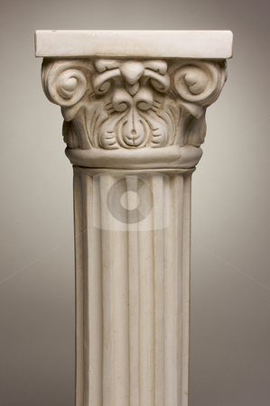 Ancient Column Pillar Replica stock photo, Ancient Column Pillar Replica on a Grey Gradation Background. by Andy Dean