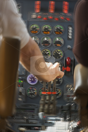 Jet Cockpit - Motion Added stock photo, Turbulent Jet Cockpit - Motion Added by Andy Dean