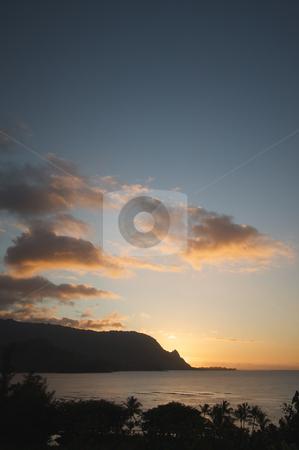 Sunset Over Hanalei Bay, Kauai stock photo, Sunset Over Hanalei Bay, Kauai, Hawaii by Andy Dean