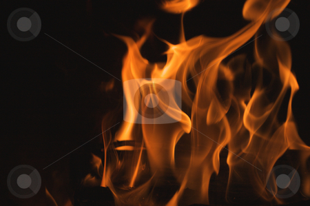 Abstract Flames stock photo, Abstract Macro of Flames Background by Andy Dean