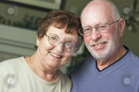 Happy Senior Adult Couple stock photo, Happy Senior Adult Couple Portrait by Andy Dean