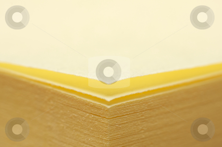 Post It Note Pad Abstract stock photo, Post It Note Pad Abstract Macro with Narrow Depth of Field by Andy Dean