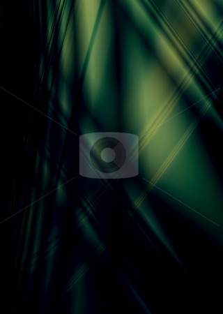 Smooth dark place stock photo, Green and black abstract background with copy space by Michael Travers