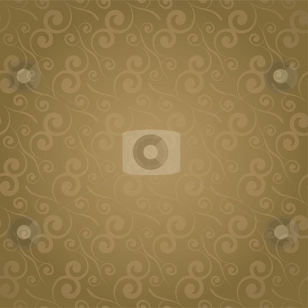 Swirl repeat golden stock photo, Golden leaf seamless repeating design with a gradient effect by Michael Travers