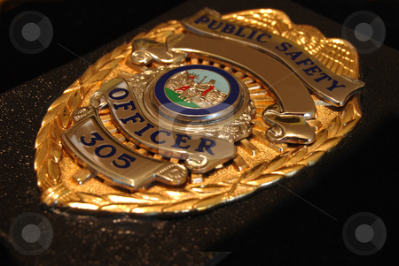 Police Shield stock photo, Police flat badge. by Steven Kapinos