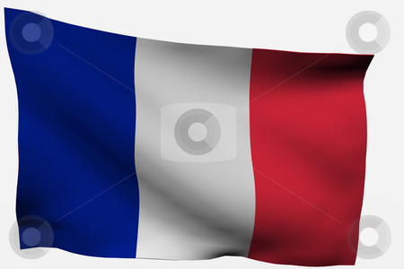 France 3D flag stock photo, France 3d flag isolated on white background by Santiago Hernandez