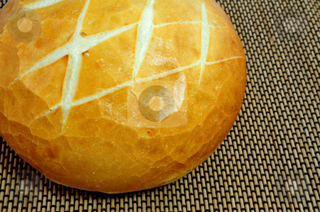 Sourdough Bread stock photo, Round loaf of fresh sourdough bread by Lynn Bendickson