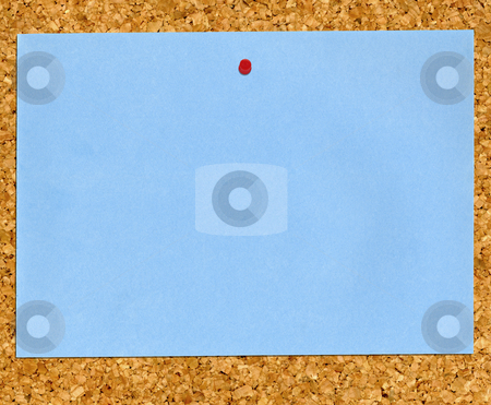 Paper on cork board. stock photo, Paper on cork board. by Stephen Rees