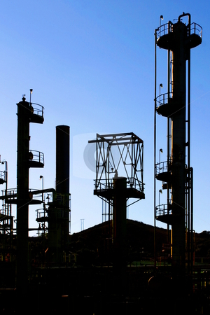 Oil Refinery stock photo, Old oil refinery in Venture near Ojai by Henrik Lehnerer