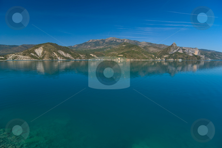 Lac de Castillon - Castillon Lake stock photo, Einer der Stauseen, der den verdon Fluss speist - One of the lakes building the verdon river by Wolfgang Heidasch