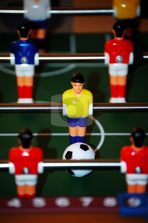 Foosball stock photo, Table top soocer game by Tim Markley